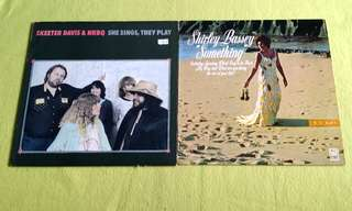 SHIRLEY BASSEY . something ● SKEETER DAVIS & NRBQ .  she sings,they play ( buy 1 get 1 free )  Vinyl record