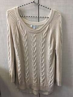Forever New Cream Cable Knit    M