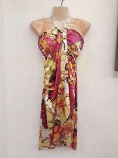 SALE Verso floral halter dress