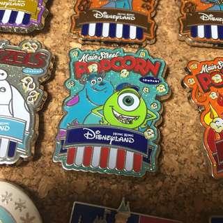 迪士尼徽章 Disney Pin- 怪獸公司 毛毛 大眼仔