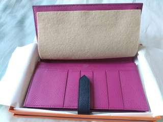 Hermes two tone Bearn wallet