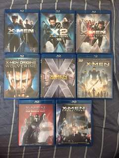 X Men 1-6 變種特攻三部曲加前傳三部曲 + X Men 0 (Origins) 狼人外傳 Blu-ray 藍光 不散賣