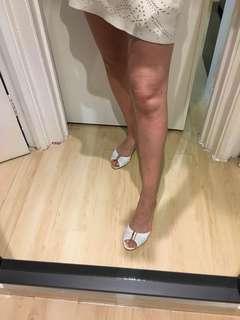 Versace white sandals 白色涼鞋(37碼)