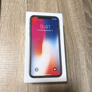 NEW Iphone X 64gb space grey