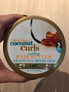 OGX Coconut Curls Curling Hair Butter Leave in or Rinse Out