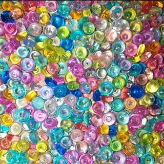 Coloured Fish Bowl Beads