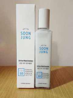 ((清貨價)) Etude house SOONJUNG 10 FREE MOIST EMULSION保濕乳液  120ml