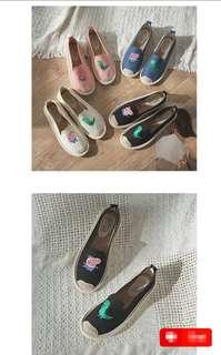 Cute Cartoon Character Casual Flat Shoes