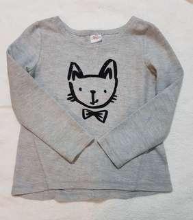 Circo Cat Printed Gray Sweatshirt 6/6x