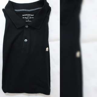 Banana Republic black polo with collar