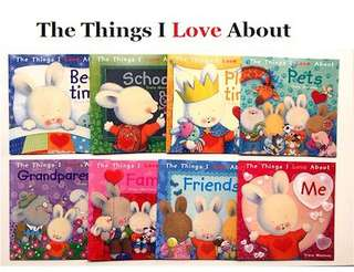 【8 Books】Trace Moroney The Things I Love Series Story Books