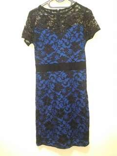 Dress Brokat Blue