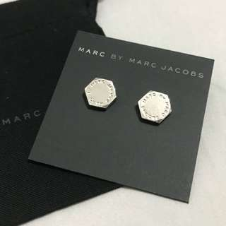 Marc By Marc Jacobs bolt silver stud earrings 銀色六角形耳環