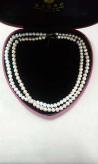淡水珍珠頸鍊2條