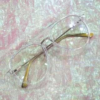 透明框雷朋造型中性眼鏡