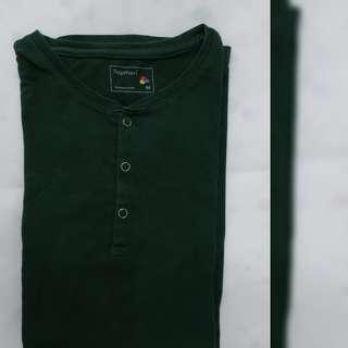 Topman dark green long sleeves