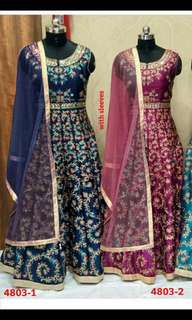 SEMI STICHED ANARKALI GOWNS