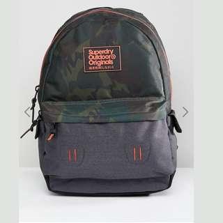 [歐洲直送包郵]  Superdry  迷彩拼色背囊 背包 書包 Backpack