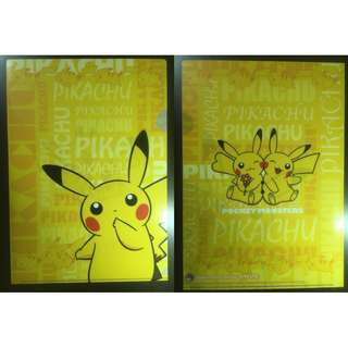 🚚 Pokemon Center Online lottery prize Pikachu clear file folders