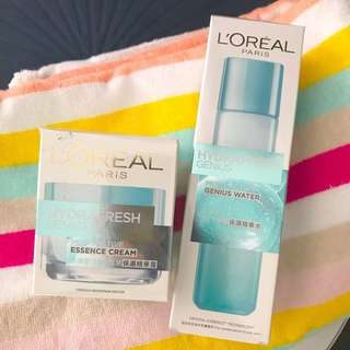 L'Oréal hydrafresh essence cream & genius water