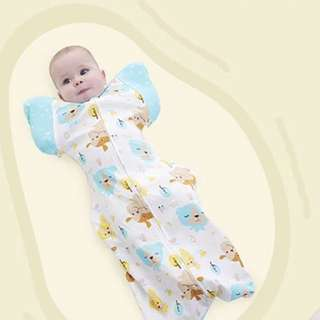 [Ready Stock] Baby Swaddle With Detachable Cuff And Double Zipper