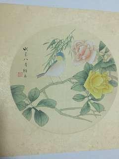 Chinese painting 张伯玉工笔花鸟