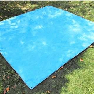 🚚 LARGE Water Resistant Mat Outdoors Moisture Proof 215 x 215 CM (BLUE)