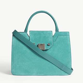 JIMMY CHOO Rebel small suede tote bag
