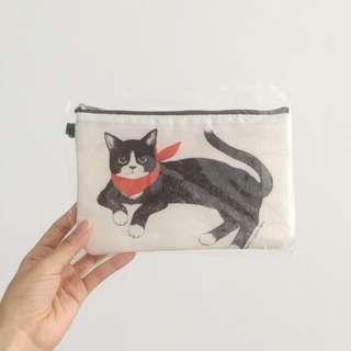 🚚 全新/ 雙面圖案貓咪化妝包(收納包)