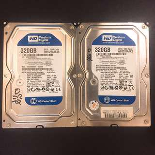 清倉 隨便賣 3.5吋硬碟320G 2個只要350-