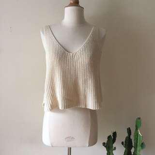 Brandy Melville Cream Knit Top