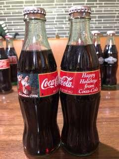 兩樽 1996 聖誕紀念 可口可樂(香港McDonald出)