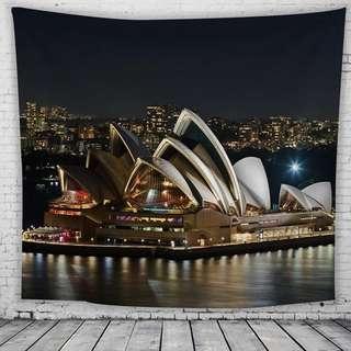 🚚 雪梨歌劇院掛布 背景布