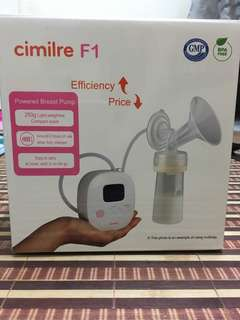 Cimilre F1 Rechargeble Double Breast Pump with Handsfree Breastshield