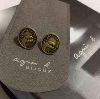 (NEW) Agnes b - sport b Dinosaur Earrings 恐龍仔耳環