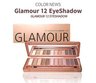 [COLORNEWS/Korean Cosmetics] 12COLORS EYE SHADOW COLORNEWS LIMITED SPECIAL PALETTE GLAMOUR