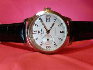 YEMA 耶馬錶,法國制造(Fabrique En France), 機械自動,不需电池,全新,有吊牌及原装盒。