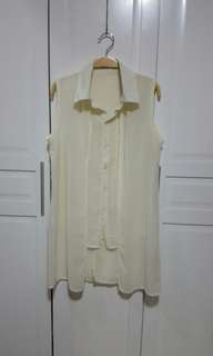 Cream Chiffon Blouse / Top