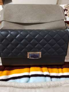 Charles and Keith Black Clutch Purse