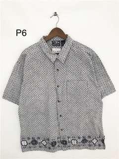 6/29-Vintage 幾何圖形滿版襯衫