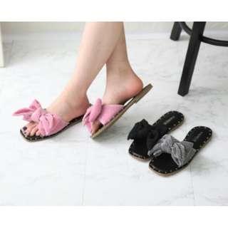 【預購】韓國 | FERLE(981925):皮革*拖鞋/涼拖鞋(尺寸:225-250/鞋跟:1cm)_免運。