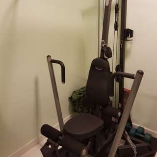 Multi-functional Home Gym Fitness System! (Space Saving Machine)
