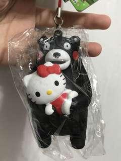 Hello Kitty 熊本熊 squishy kumamon 掛飾