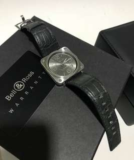 Authentic Bell & Ross BRS-92 Officer Ruthenium
