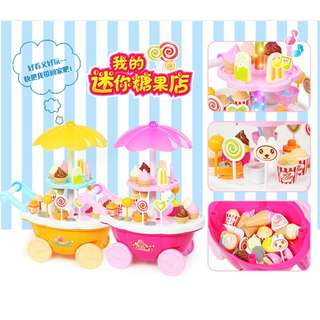 Read Stock Candy Ice Cream & Sweet Cart Kids Pretend Role Play Toy
