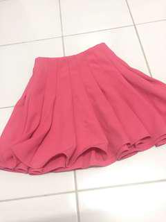 H&m pink flare short skirt
