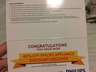 40% Philip Electronice Coupon