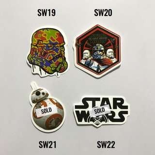 [NEW] Star Wars Luggage Stickers /Laptop Stickers