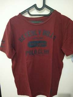 Kaos warna merah maroon 'Polo Club'