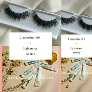 Promo 2 eyelashes + 2 lem glameyes
